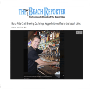 Employe serving nitro coffee for Beach Report