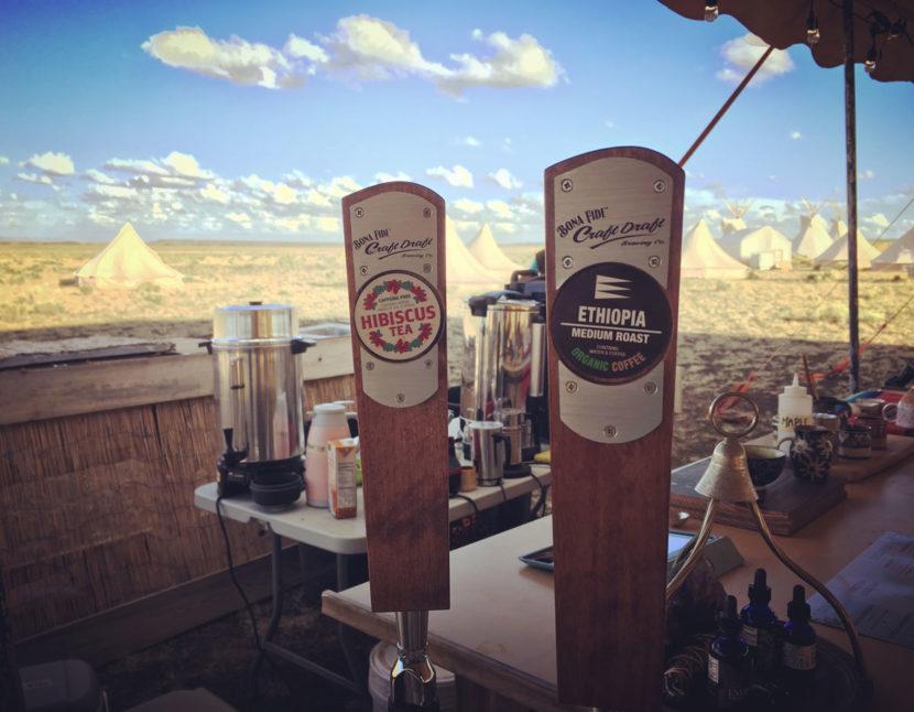 Bona Fide Nitro Coffee serving on festival