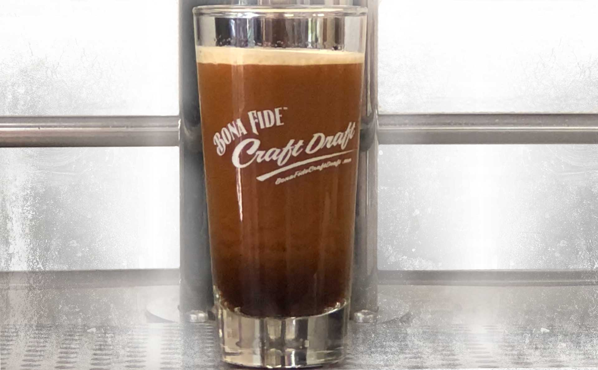 Nitro Cold Brew Coffee served from kegerator Bona Fide