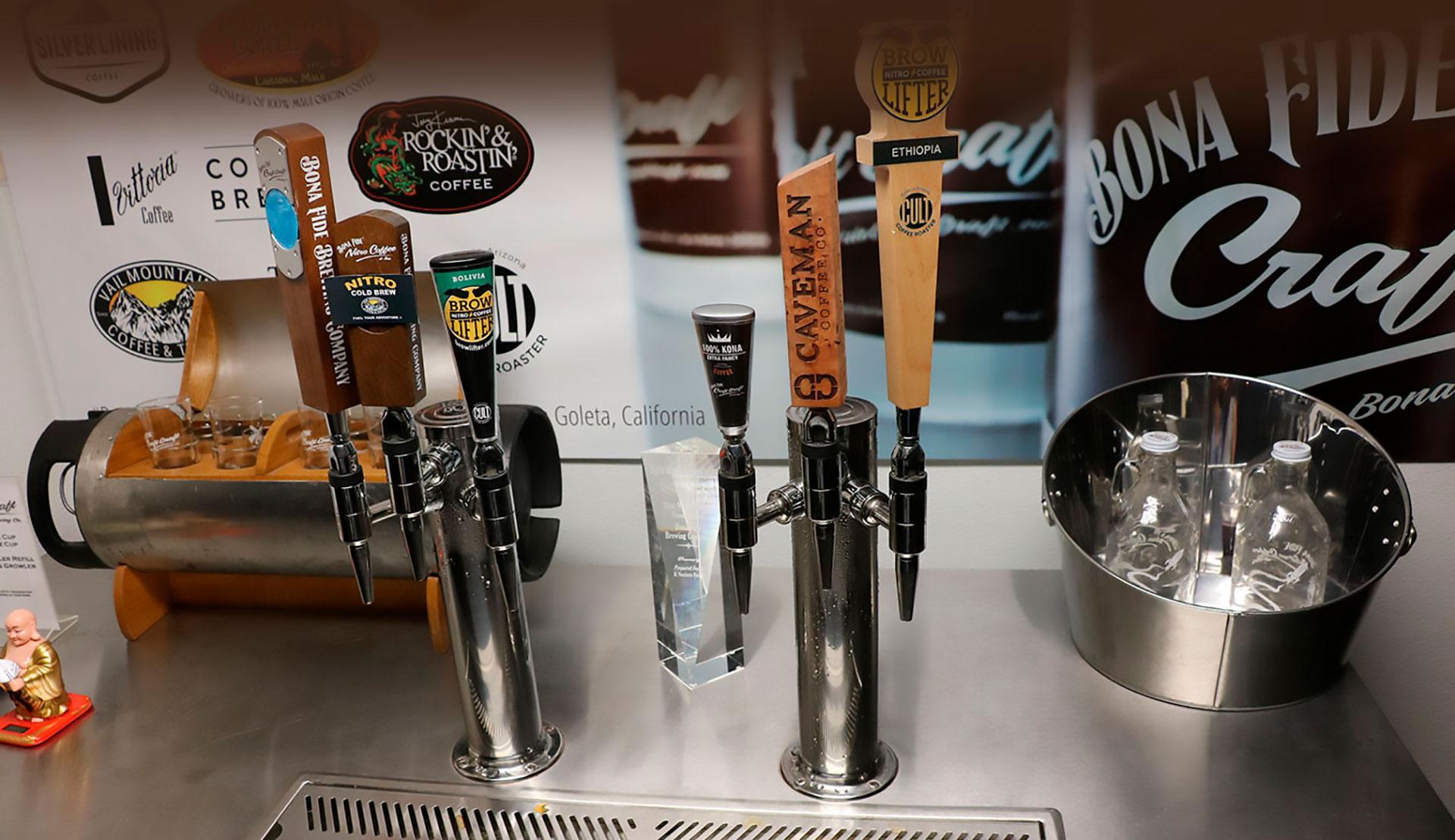 Nitro Coffee on Tap by Bona Fide Brewing Company