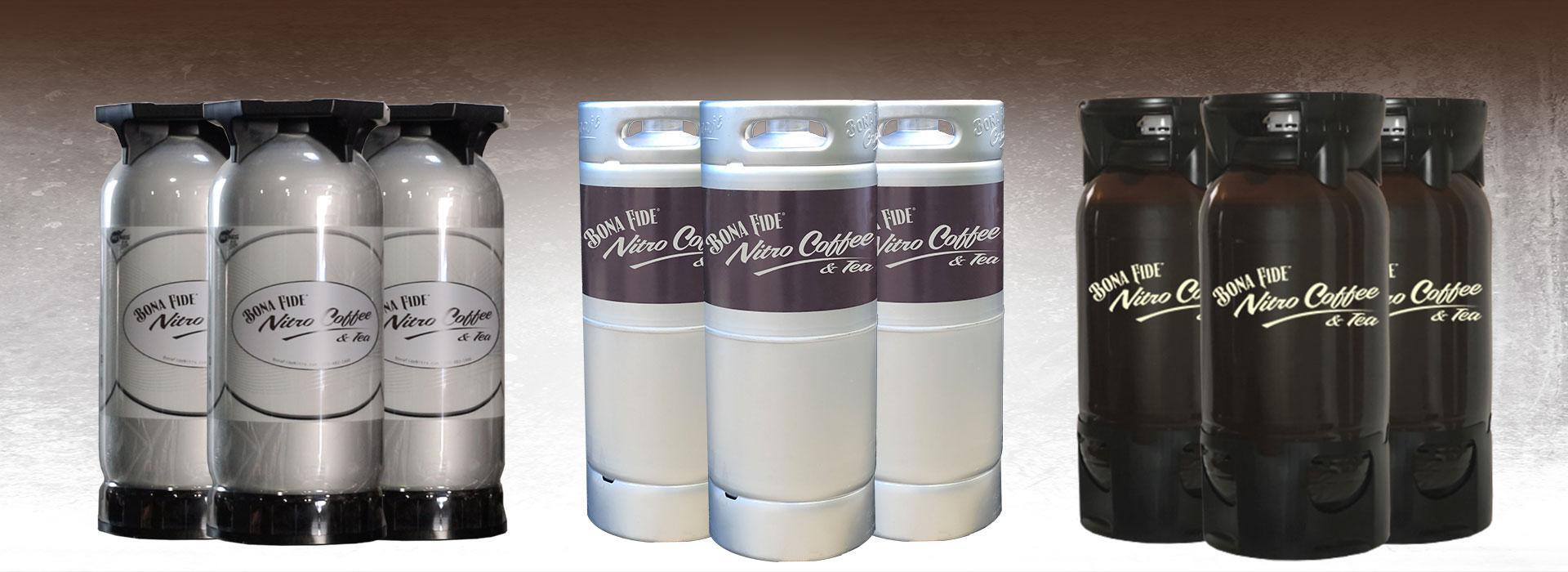 Bona Fide Nitro Coffee and Nitro Tea PET Keg, Stainless Steel Keg, Key Keg