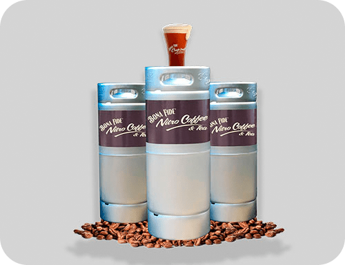 Coffee kegs created with your coffee beans by Bona Fide
