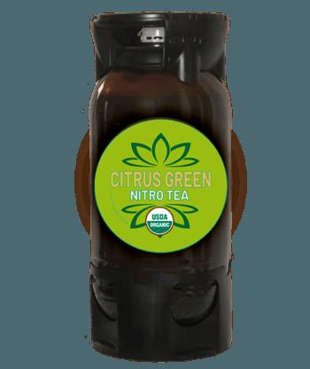 Nitro Tea green citrus organic in PET keg by Bona Fide