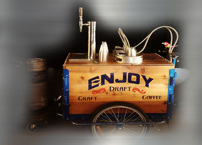 Trike Bona Fide serving nitro coffee on bike